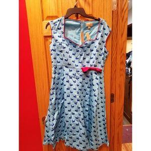 UK 16/US 12 NWT Lindy Bop Leda Swan Dress